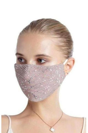 Fashion Bling Face Mask + Filters Blush Pink