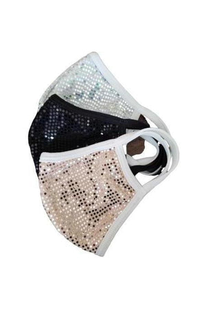 Fashion Sparkly Face Mask White-Health & Wellness-Madison Private Label-Three Wild Horses