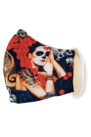 Snow Exclusive Carina Day of the Dead Face Mask + 2 PM 2.5 Filters