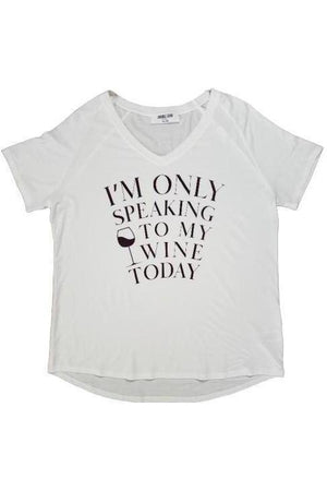 Only Speaking To My Wine Tee Shirt-Madison Private Label-small-Three Wild Horses