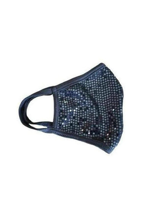 Fashion Sparkly Face mask Black-Health & Wellness-Madison Private Label-Three Wild Horses