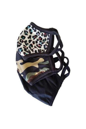 Stylish Face Mask Snow Leopard-Health & Wellness-Fairen Del-Three Wild Horses