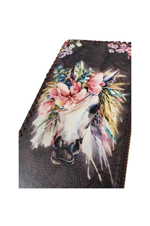 Light Pink Fancy Horse PU Leather Ladies Wallet