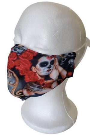 Brown Exclusive Carina Day of the Dead Face Mask + 2 PM 2.5 Filters