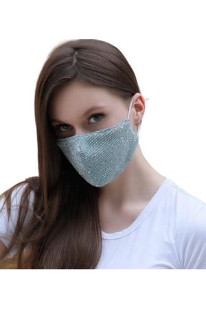 Snow Fashion Bling Face Mask + Filters Sky Blue