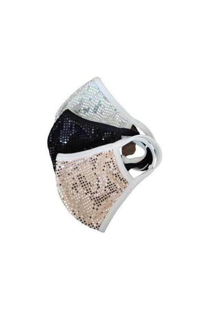 Set of three Fashion Sparkly Face Masks-Health & Wellness-Madison Private Label-Three Wild Horses