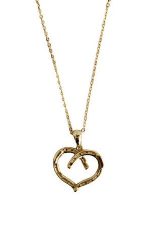 Seashell Wild at Heart Horseshoe Necklace Gold