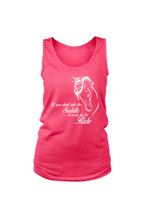Horse Riding - Tank Tops-Tops-teelaunch-Neon Pink-S-Three Wild Horses