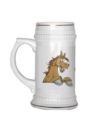 Horses and Beer - Beer Stein-Drinkware-teelaunch-Beer Stein 22 OZ-Three Wild Horses