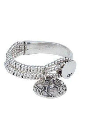 CXC Horse Coin Bracelet in Silver-Jewelry-CXC-Three Wild Horses