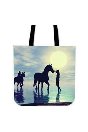 Light Goldenrod Yellow Water Horse - Tote Bag