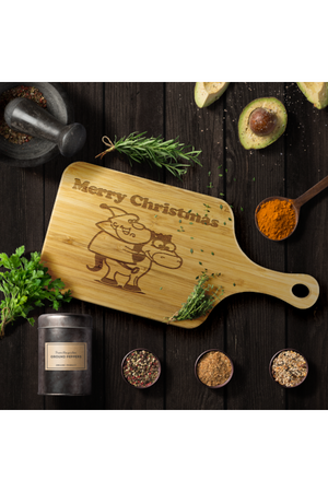 Merry Christmas Cutting Board-Wood Cutting Boards-teelaunch-Cutting Board With Handle-Three Wild Horses