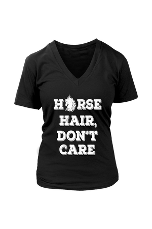 Black Horse Hair Don't Care T-Shirt in Black