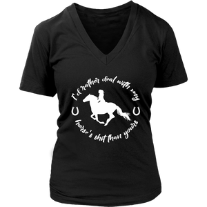 Black Deal With My Horse T-Shirt in Black