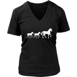 Black Two Foal - T-Shirt in Black