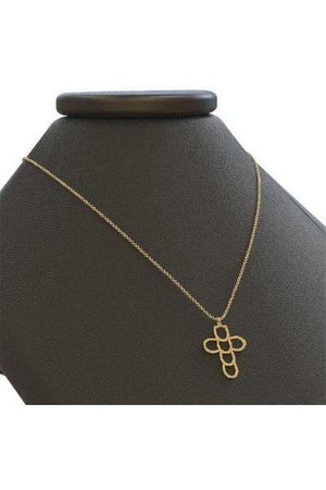 Horseshoe Faith & Luck Cross Necklace - Silver or Gold-Jewelry-Three Wild Horses-.925 Sterling Silver-Three Wild Horses