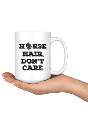 Snow Horse Hair Don't Care Mug