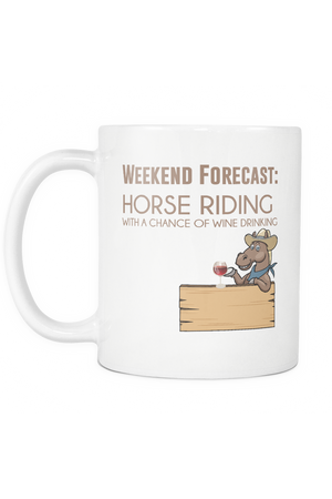 Weekend Forecast - Mug-Drinkware-teelaunch-COFFEE MUG 11 OZ-Three Wild Horses