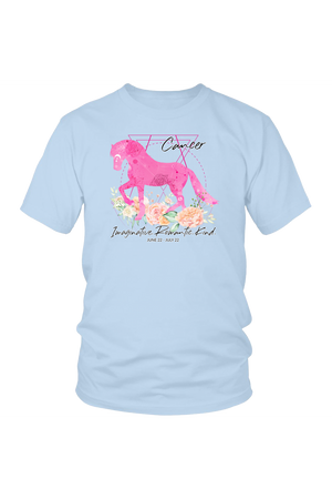 Cancer Horse Unisex Shirt-T-shirt-teelaunch-District Unisex Shirt-Ice Blue-S-Three Wild Horses