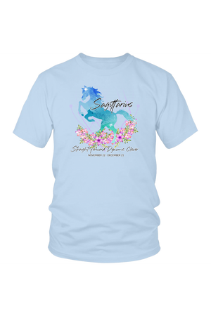 Sagittarius Horse Unisex Shirt-T-shirt-teelaunch-District Unisex Shirt-Ice Blue-S-Three Wild Horses