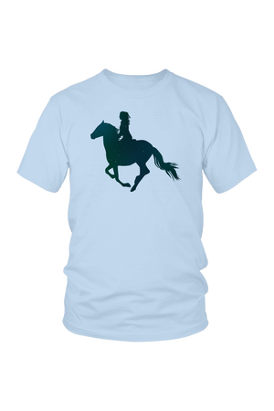 Light Blue Horse Riding T-Shirt