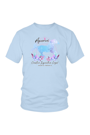 Aquarius Horse Unisex Shirt-T-shirt-teelaunch-District Unisex Shirt-Ice Blue-S-Three Wild Horses
