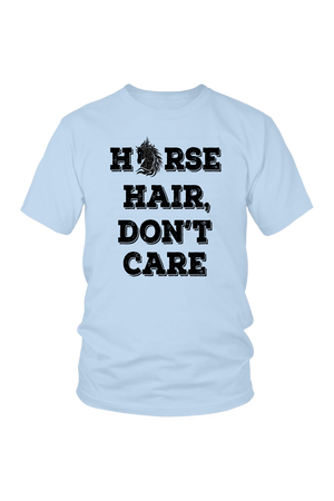 Light Blue Horse Hair Don't Care T-Shirt