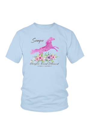 Scorpio Horse Unisex Shirt-T-shirt-teelaunch-District Unisex Shirt-Ice Blue-S-Three Wild Horses