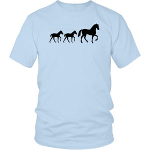 Light Blue Two Foal - T-Shirt