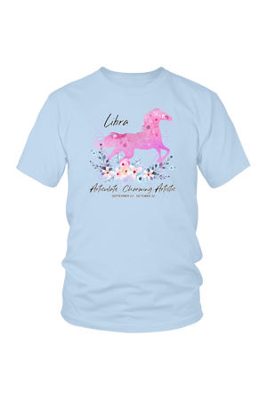 Libra Horse Unisex Shirt-T-shirt-teelaunch-District Unisex Shirt-Ice Blue-S-Three Wild Horses