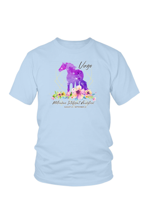 Virgo Horse Unisex Shirt-T-shirt-teelaunch-District Unisex Shirt-Ice Blue-S-Three Wild Horses