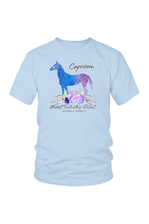 Capricorn Horse Unisex Shirt-T-shirt-teelaunch-District Unisex Shirt-Ice Blue-S-Three Wild Horses