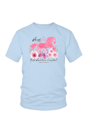 Aries Horse Unisex Shirt-T-shirt-teelaunch-District Unisex Shirt-Ice Blue-S-Three Wild Horses