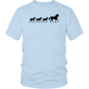 Light Blue Three Foal - T-Shirt