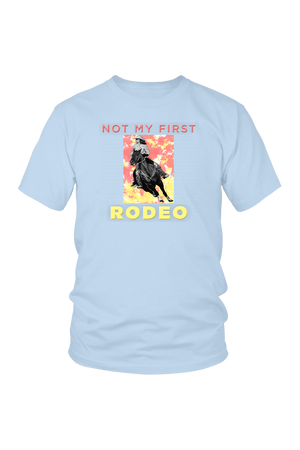 Not My First Rodeo Horse Shirt-T-shirt-teelaunch-Unisex Tee-Ice Blue-S-Three Wild Horses