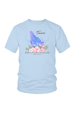 Taurus Horse Unisex Shirt-T-shirt-teelaunch-District Unisex Shirt-Ice Blue-S-Three Wild Horses