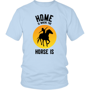 Gold Home is Where The Horse Is - T-Shirt