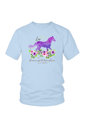 Leo Horse Unisex Shirt-T-shirt-teelaunch-District Unisex Shirt-Ice Blue-S-Three Wild Horses