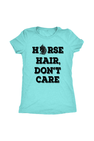Sky Blue Horse Hair Don't Care T-Shirt