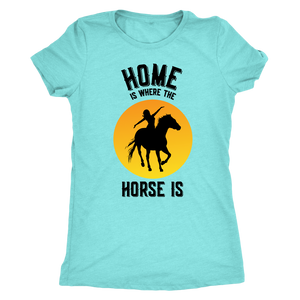 Sky Blue Home is Where The Horse Is - T-Shirt