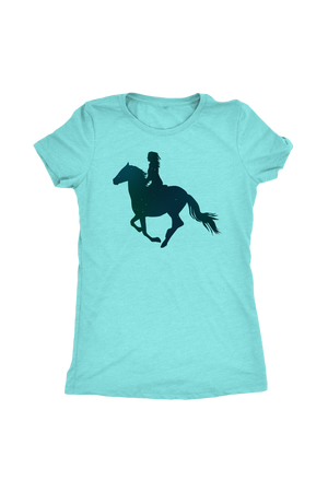Sky Blue Horse Riding T-Shirt