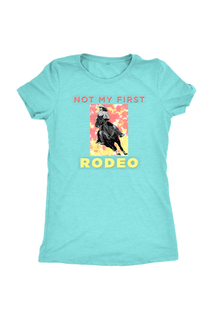 Not My First Rodeo Horse Shirt-T-shirt-teelaunch-Womens Triblend-Tahiti Blue-S-Three Wild Horses