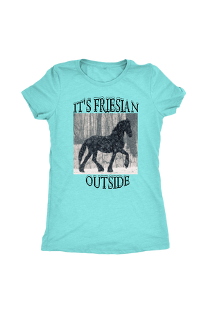 Sky Blue It's Friesian Outside T-Shirt