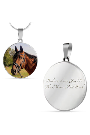 Round Photo Necklace-Jewelry-ShineOn Fulfillment-Luxury Necklace (Silver)-Yes-Three Wild Horses