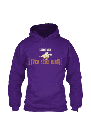 Never Stop Riding - Long Sleeve-Long Sleeve-Teescape-HODDIE-Purple-S-Three Wild Horses