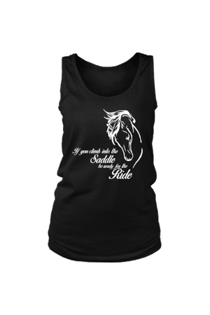 Horse Riding - Tank Tops-Tops-teelaunch-Black-S-Three Wild Horses