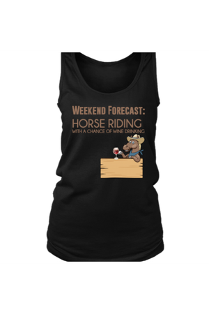Weekend Forecast - Tank Tops-Tops-teelaunch-Black-S-Three Wild Horses