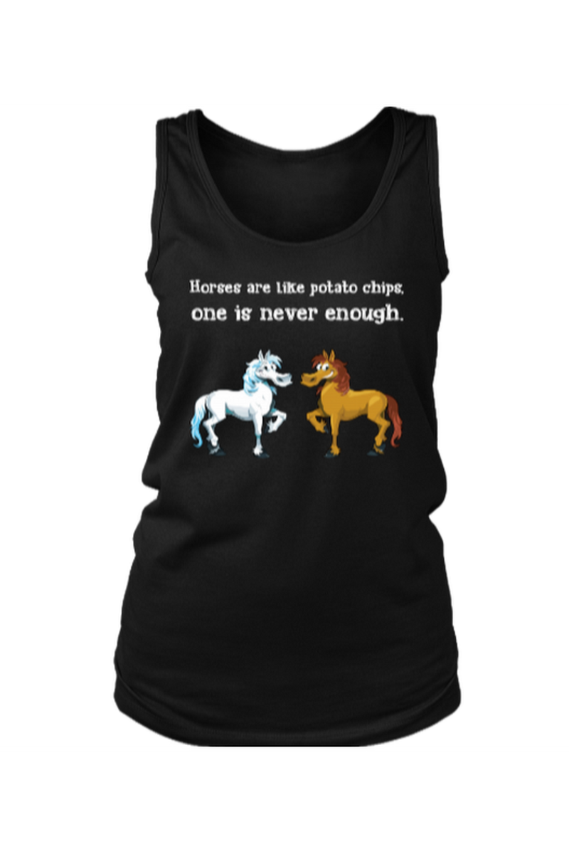 Horses Are Like Potato Chips - Tank Tops