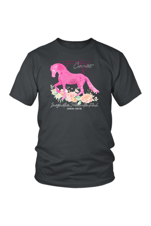 Cancer Horse Unisex Shirt-T-shirt-teelaunch-District Unisex Shirt-Charcoal-S-Three Wild Horses