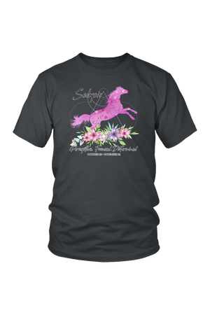 Scorpio Horse Unisex Shirt-T-shirt-teelaunch-District Unisex Shirt-Charcoal-S-Three Wild Horses